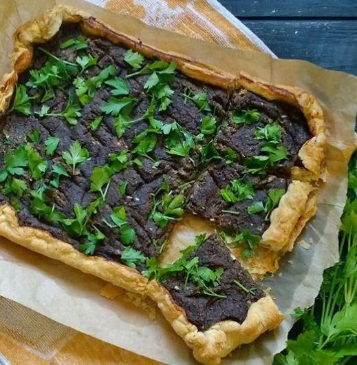 Torta salada de lentejas y setas   #Receta de cocina   #Vegana ...
