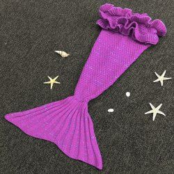 Cute Knitting Mermaid Design Baby Sleeping Bag Blanket (PURPLE,ONE SIZE(FIT SIZE XS TO M)) | Sammydress.com Mobile