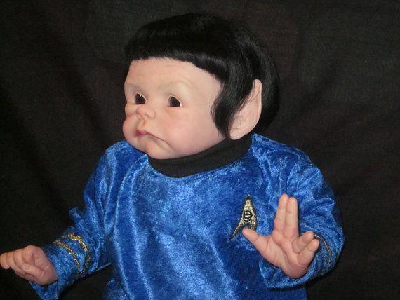 Baby Spock From Star Trek Reborn Baby Doll Funny Spock