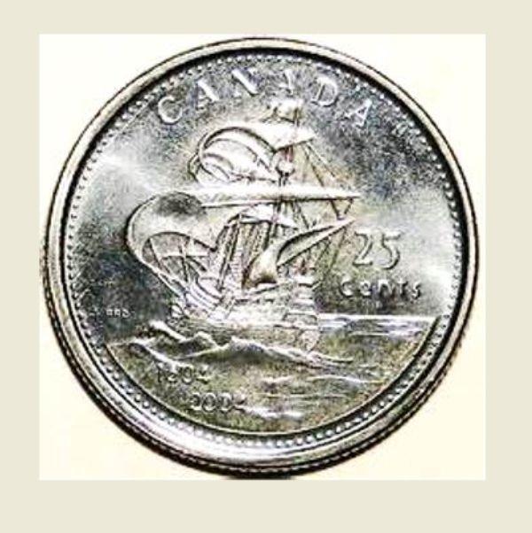 2004 Canada coin - First European Settlement in Canada 1604