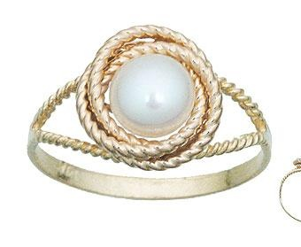 Pearl knot ring