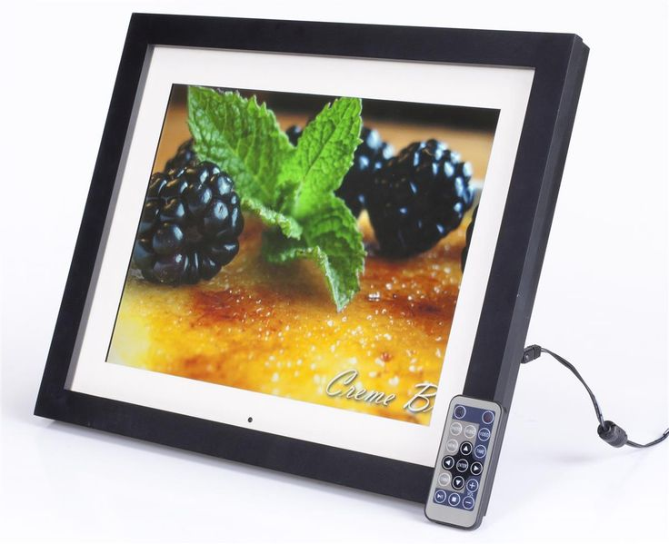 15 digital photo frame w white mat tabletop or wall plays images - Electronic Frame