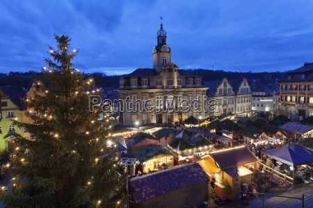 Christmas fair, Town Hall and Market Place, -  Royalty Free Stock Photo - 19062343