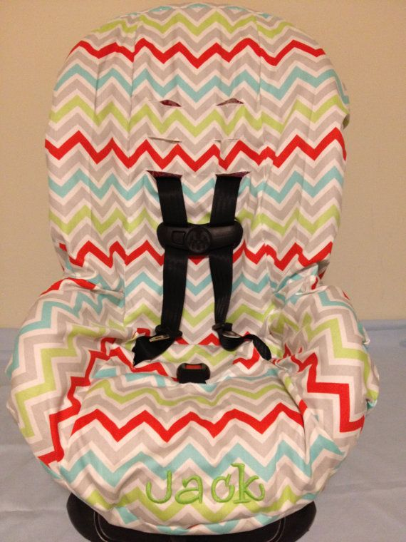 CHEVRON multi color or you CHOOSE FABRIC to design your toddler Car Seat Cover