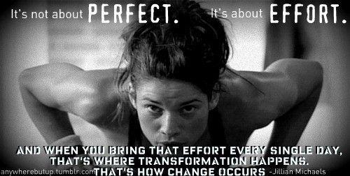 all it takes is a little effort!