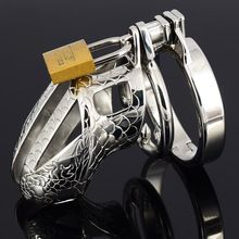the best Small Chastity Device Metal Chastity Cage Stainless Steel Cock Cage Male Chastity Belt Penis Ring BDSM Toys Bondage Sex Products