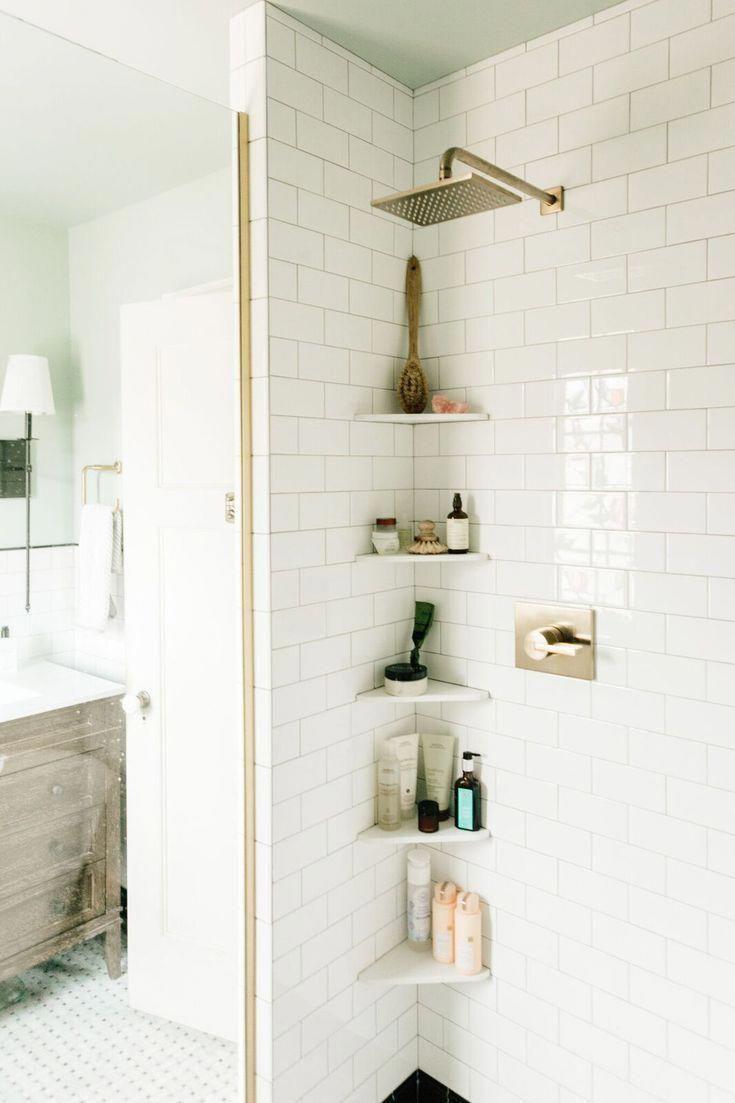 Discover These Creative 17 Small Bathroom Shelf Ideas You Ll Love Small Bathroom Shelves Small Bathroom Shower Shelves
