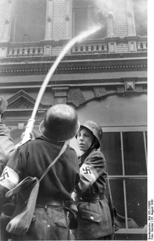 Hitler Youth Firefighter`s Dusseldorf Aug 1943