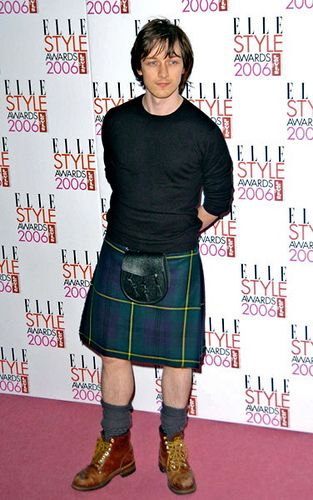James McAvoy. I should stay away from men in kilts, but yum.