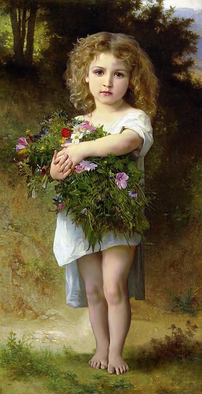 "Bouguereau ""Child with Flowers"""