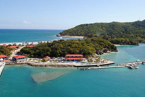 "Club Orient - Labadee, Haiti. Location of anchorman  Carlos Cardona & co-anchor Chevelle Lourdes Torres secret sexual encounter in ""Lead Story."""
