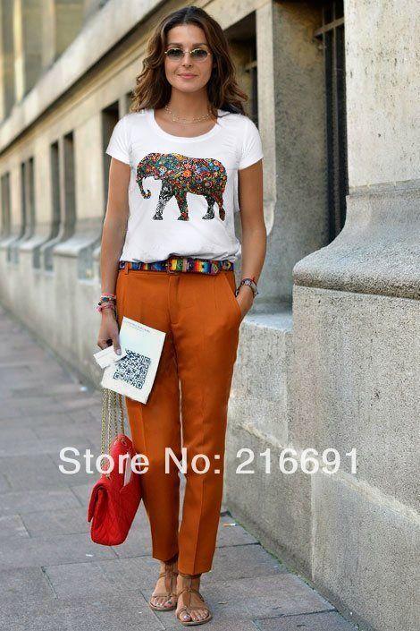 2 цвета 2014 новая мода Европа женщины Цвет ногтей дрель блестки слоны печатные футболку Девочка весной и летом случайные тройники # E321 329,14