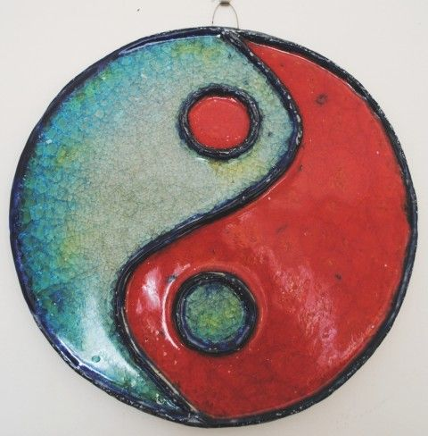 Keramický reliéf - Jin jang keramický reliéf jin jang kachle