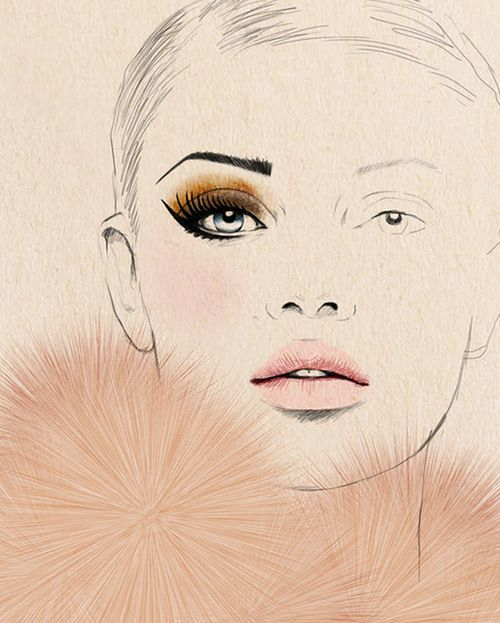 .Face Charts, Fashion Sketches, Fashion Drawing, Sandra Suy, Makeup, Fashion Art, Drawing Fashion, Fashion Illustration, Sandrasuy