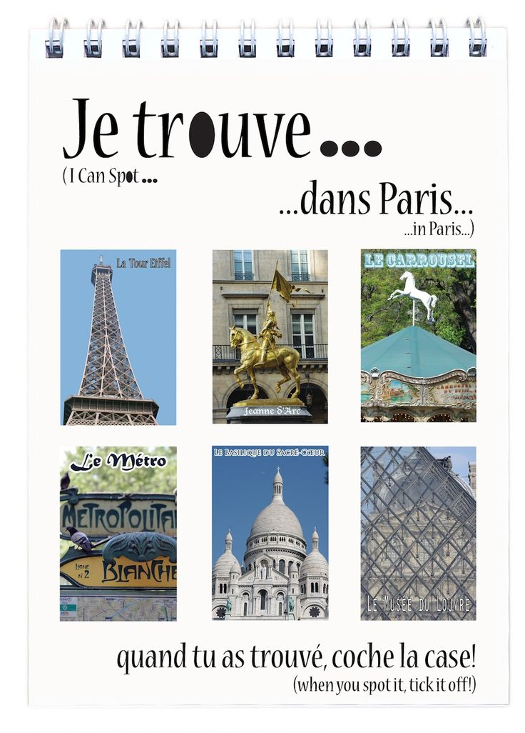 I Can Spot... in Paris - Flip Book and it's in French too!! For effortless learning.