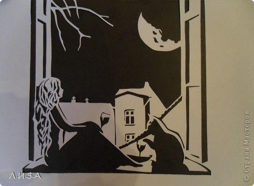 Ночная тишина Вытынанка+Ссылка на шаблон