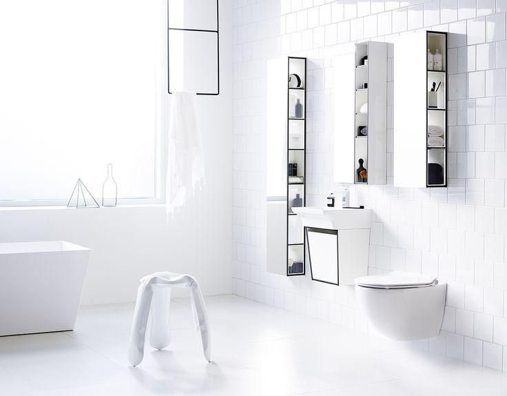Vitt och minimalistiskt badrum - Aspen