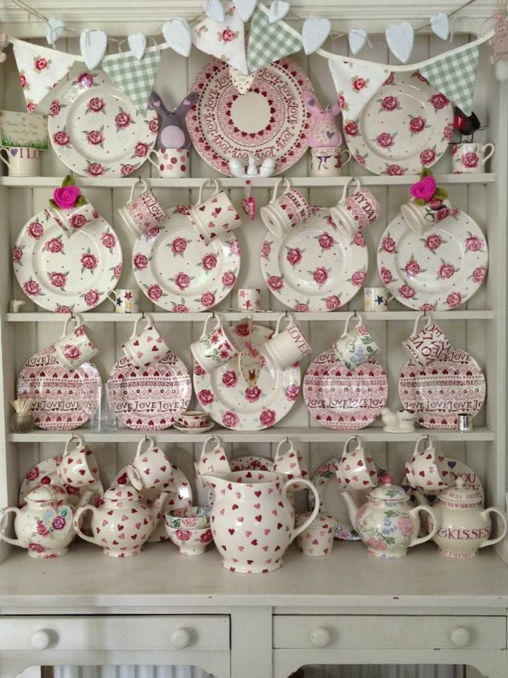 Emma Bridgewater Pink Patterns on display. Beautiful