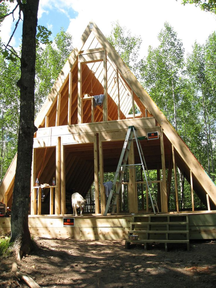 building plans for cabins our a frame cabin domy plany domu budowa 7428
