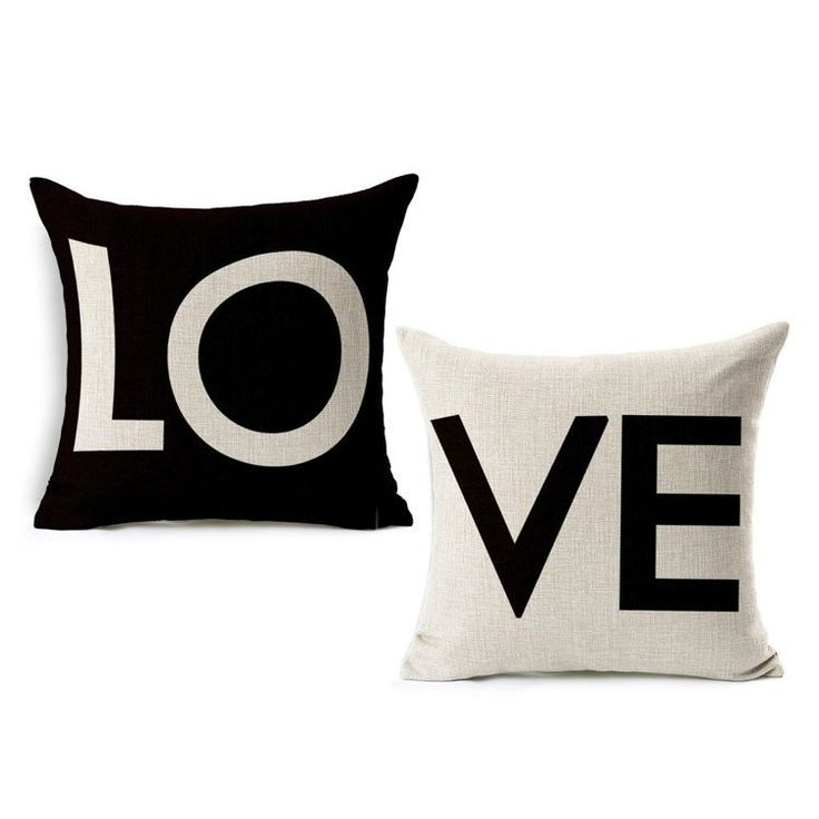 LOVE Pillow Case Set