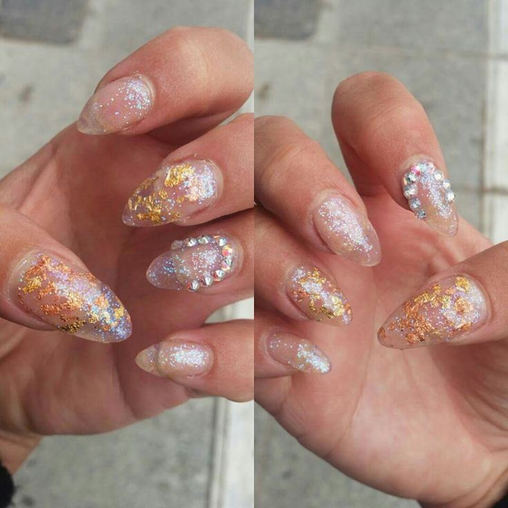 Transparent nails