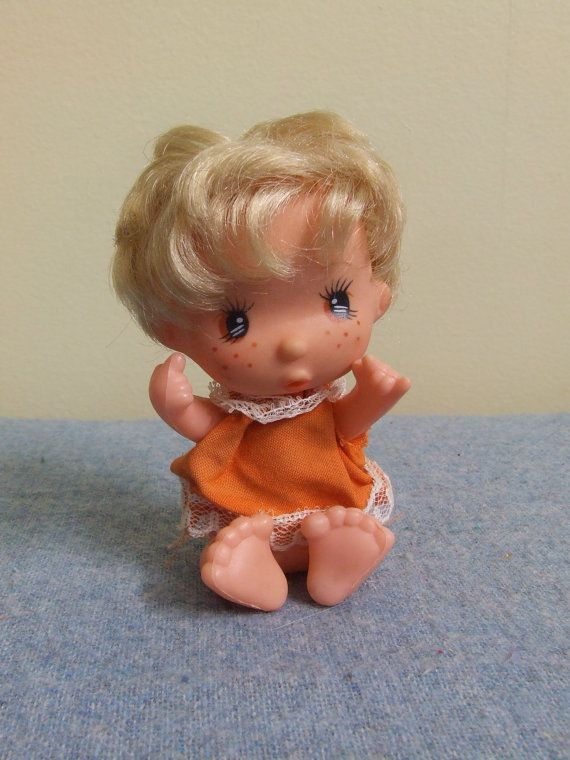 1970s Big Eyed Freckled Girl Doll  Hong Kong Jointed by TheOddOwl, $8.00