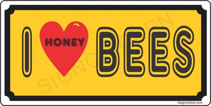 I LOVE HONEY BEES license plate  - HONEY, BEE KEEPER, HONEY FOR SALE, SUPPLIES #SIGNCHICKEN