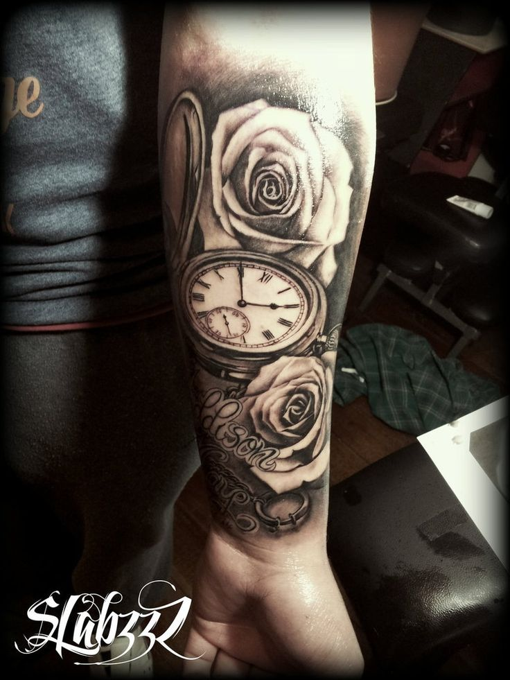 Watch Sleeve Tattoo: 23 Best Images About Pocket Watch Tattoos On Pinterest