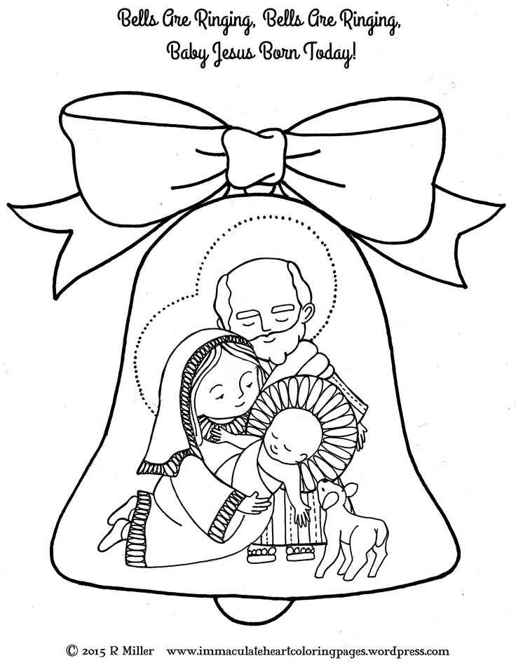 Bells Are Ringing Nativity Christmas Coloring Page From The SongBells Church CraftChristmas