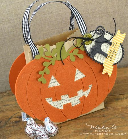Jack-O-Lantern Gift Bag by Nichole Heady for Papertrey Ink (August 2012)