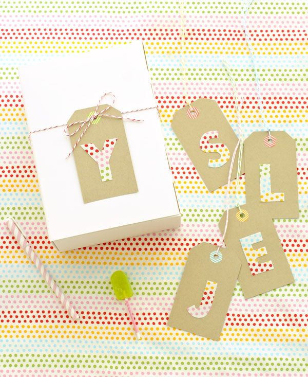 Fabric Letter Tags