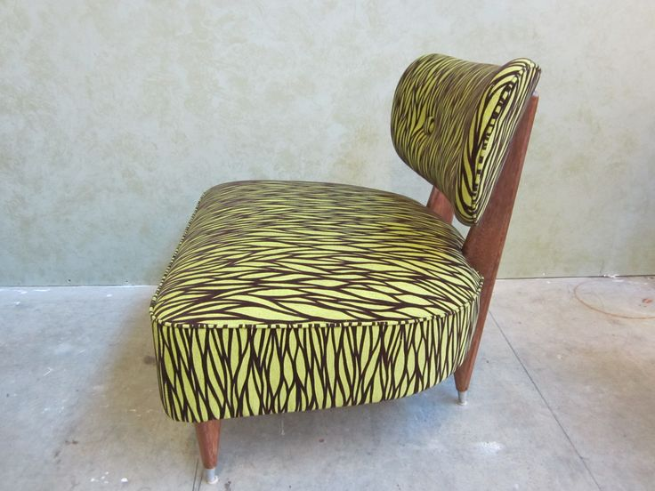 #contemporary #chair after #refinishing & #reupholstering by AM Furniture Finishing.