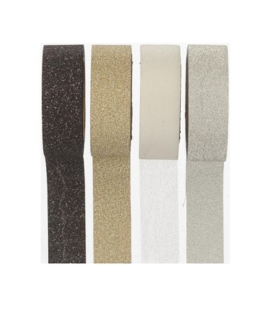 4-pak glitter washi tape - HEMA- 3,5 euro