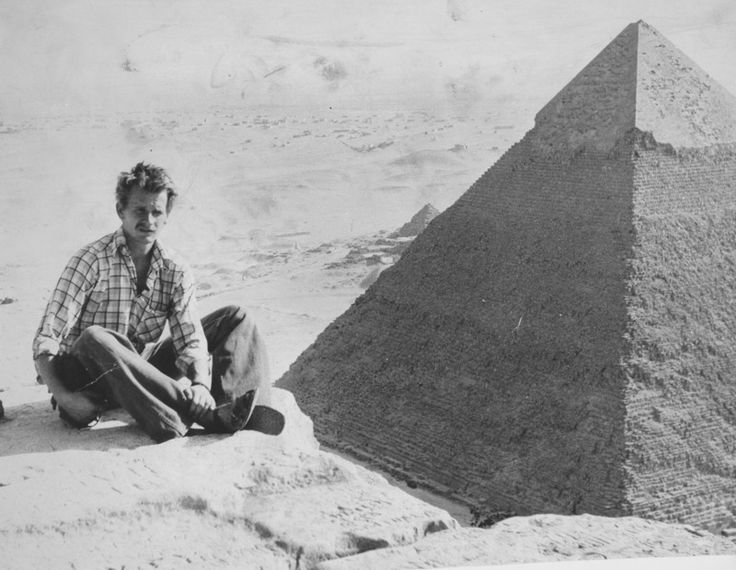 Yes, it was worth the effort. Author on Cheops Pyramid with the view on Khufu pyramid.