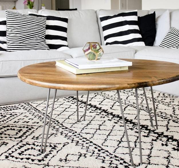 hairpin leg coffee table diy coffee table ideas for the budget conscious decorator