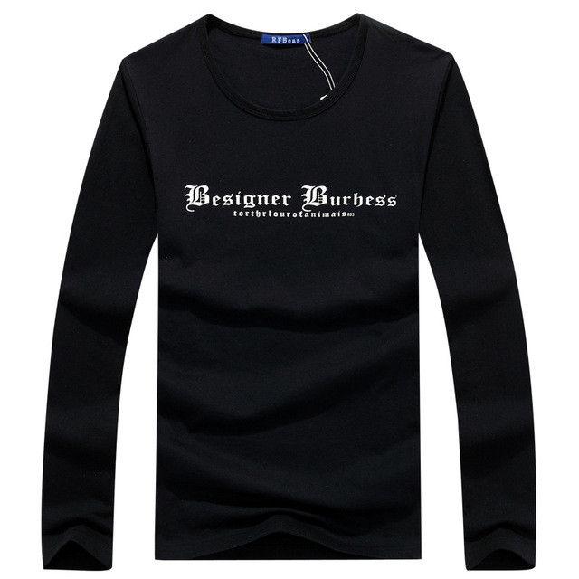 Cotton M-5XL T shirts Store priting Tees Men boy Fitness Concert T-Shirt male black long sleeve Tops Plus