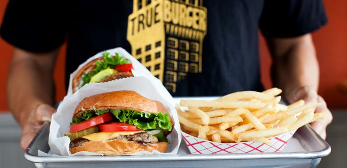 My favorite....TRUE DELUXE Cheesy Trueburger topped with a Mushroom Burger.