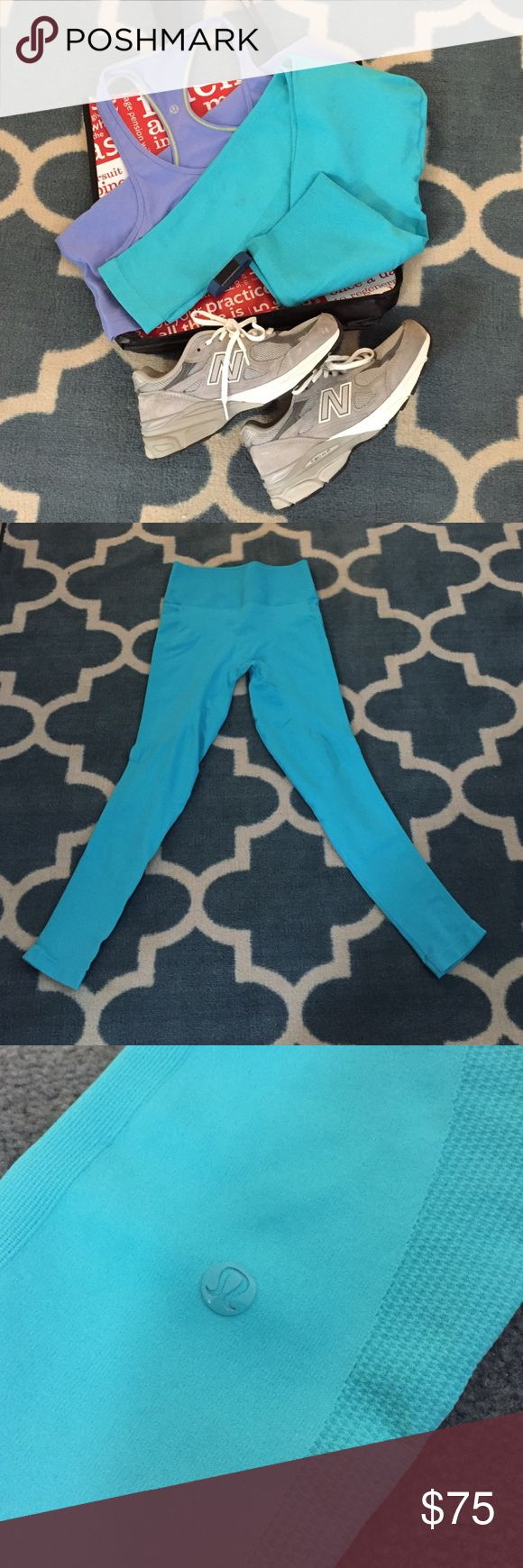 Zone In Tight - sz 10 Great pair of real lululemon leggings. I've only worn these twice. As seen in pics there is no visible sign of wear and no pilling. I wore these for Carolina Panthers games and to yoga. Please message below with any questions. Thanks! lululemon athletica Pants Leggings