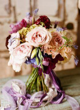 Фиолетовые Свадебные Букеты - Бель Журнала