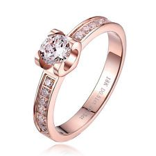 Design-Ring,18K Rose-Gold plattiert, Damen Ring, Verlobungsring, Ehering, Neu