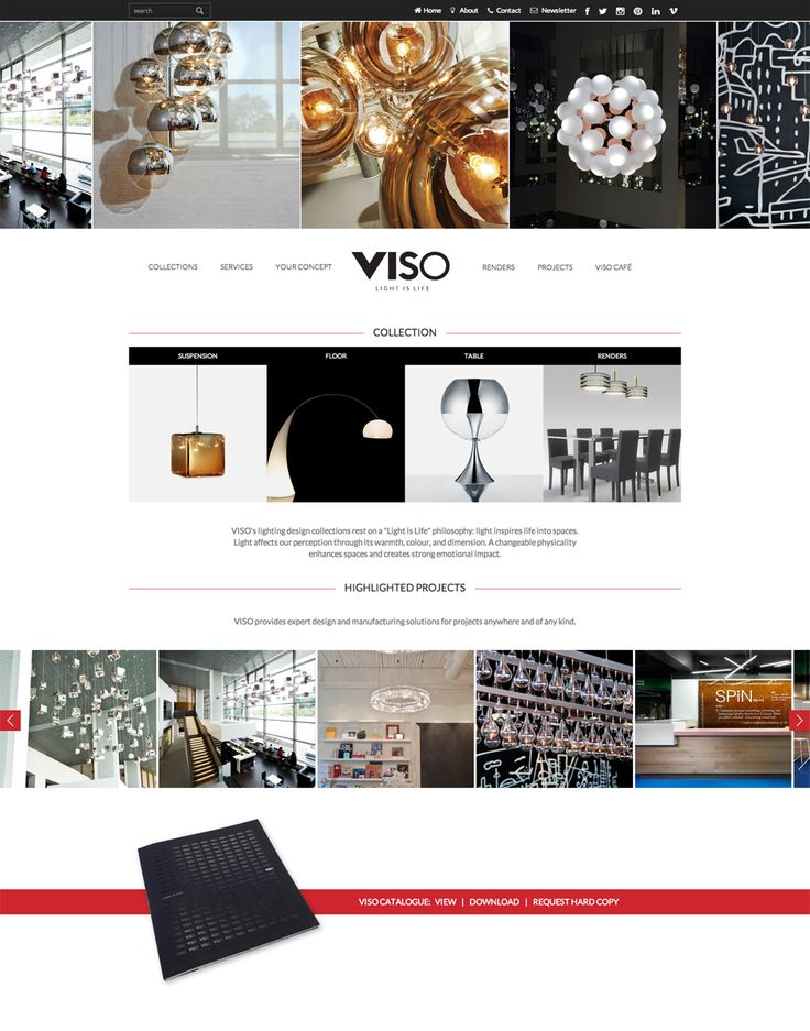 Viso Inc website design by Macroblu.