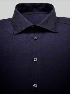 Duchamp navy textured shirt