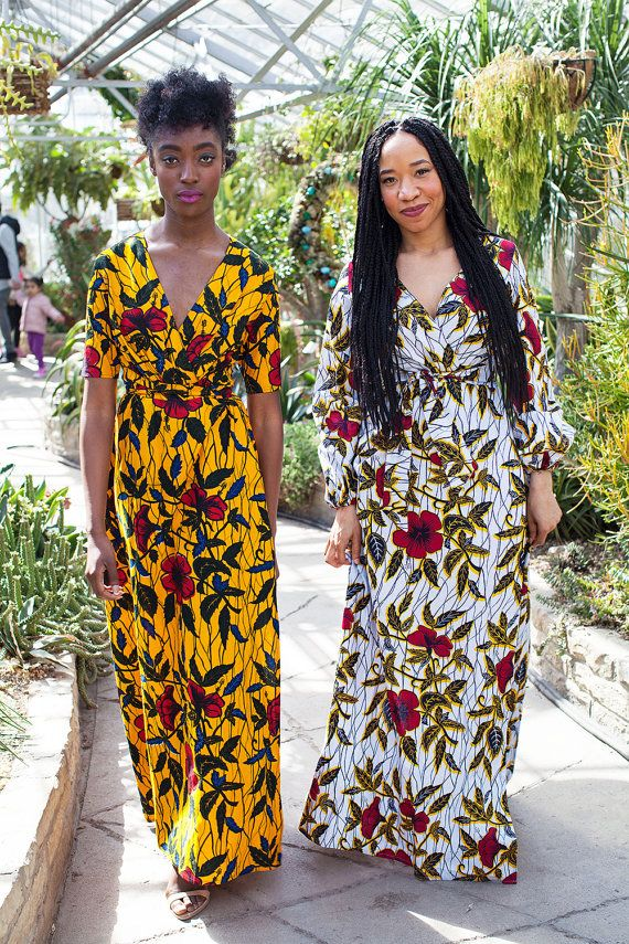 THE EUDOXIE Maxi Dress in Golden Hibiscus by AsikereAfana on Etsy