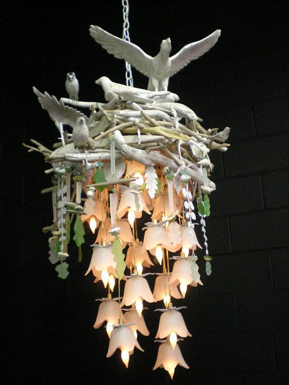 259 best light the night fantastic images on pinterest items similar to bird nest chandelier on etsy mozeypictures Image collections