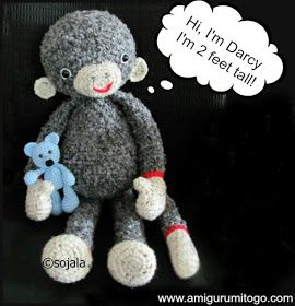 Amigurumi To Go: Extra Large Monkey Crochet Pattern ...