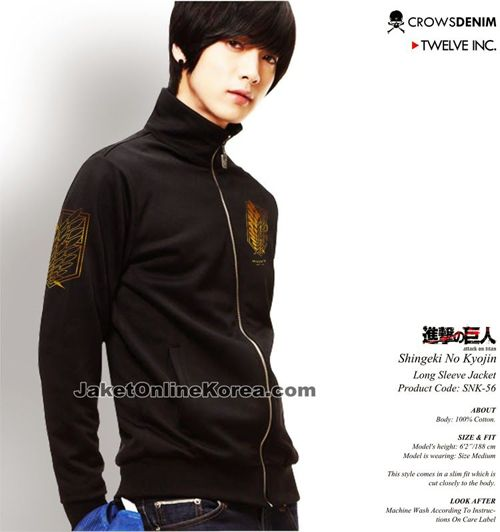 Jaket Anime Shingeki no Kyojin - long sleeve jacket - SNK562 2