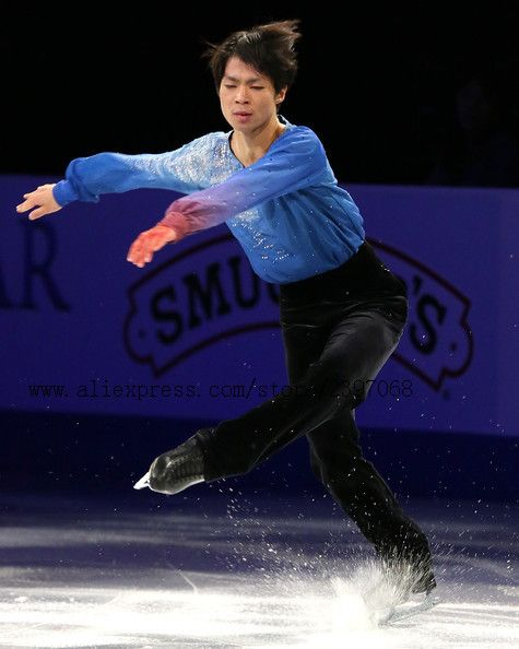 man figure skating dresses hot sale custom ice skating suits for men free shipping blue suits for figure skating