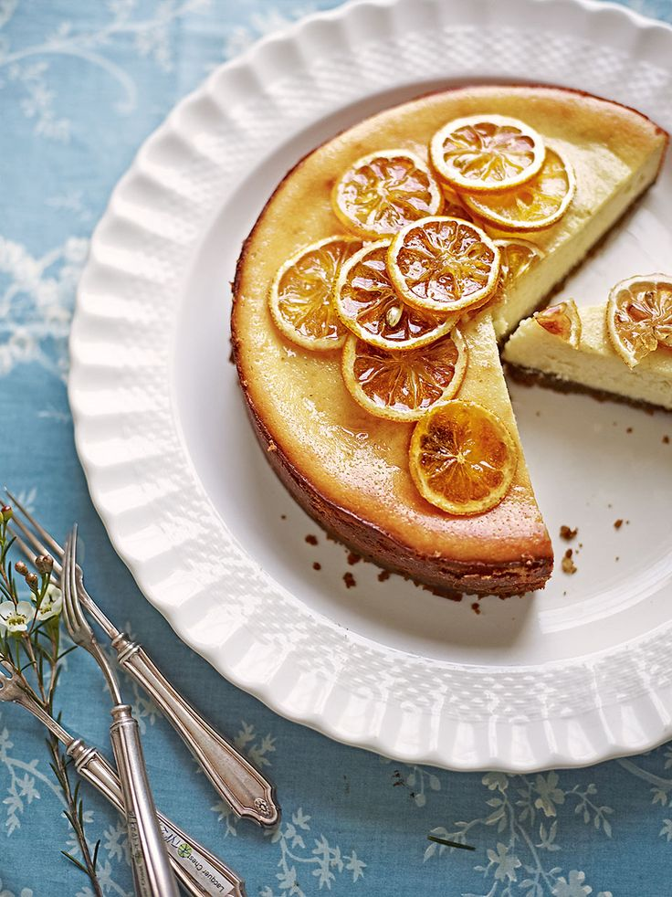 This baked lemon cheesecake recipe has been adapted from Eliza Acton's cookbook, published in 1845. The recipe's update is based on  a modern classic -  New York cheesecake.