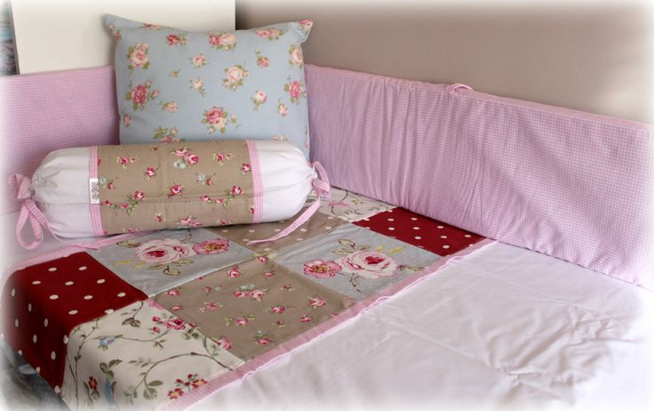 Cot Linen in our Bloom Range. Designed and manufactured by Tula-tu Baby Linen. www.tulatu.co.za