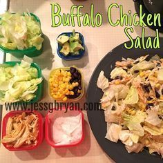 Buffalo Chicken Salad - 21 Day Fix Approved! 21 Day Fix Lunch Recipes // 21 Day Fix Recipes for Lunch at Work // Dream Team // 21DFX // Hammer and Chisel Meals